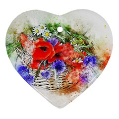Flowers Bouquet Art Nature Ornament (heart)