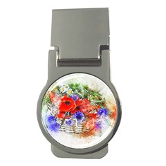 Flowers Bouquet Art Nature Money Clips (round)