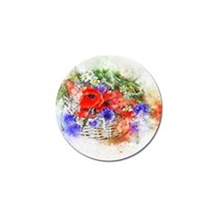 Flowers Bouquet Art Nature Golf Ball Marker (10 Pack)