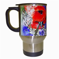 Flowers Bouquet Art Nature Travel Mugs (white)
