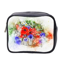 Flowers Bouquet Art Nature Mini Toiletries Bag 2 Side