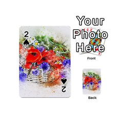 Flowers Bouquet Art Nature Playing Cards 54 (mini)  by Nexatart