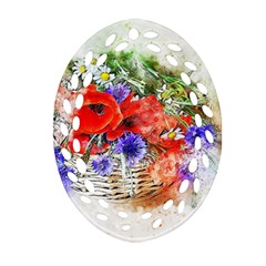 Flowers Bouquet Art Nature Ornament (oval Filigree)