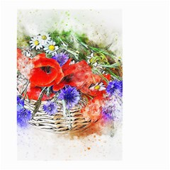 Flowers Bouquet Art Nature Small Garden Flag (two Sides) by Nexatart