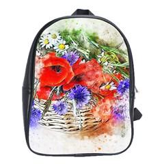 Flowers Bouquet Art Nature School Bag (xl) by Nexatart