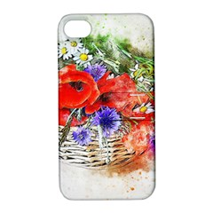 Flowers Bouquet Art Nature Apple Iphone 4/4s Hardshell Case With Stand by Nexatart