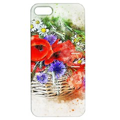 Flowers Bouquet Art Nature Apple Iphone 5 Hardshell Case With Stand by Nexatart