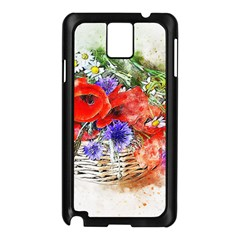 Flowers Bouquet Art Nature Samsung Galaxy Note 3 N9005 Case (black)