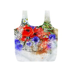 Flowers Bouquet Art Nature Full Print Recycle Bags (s)