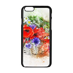 Flowers Bouquet Art Nature Apple Iphone 6/6s Black Enamel Case by Nexatart