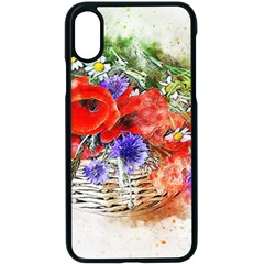 Flowers Bouquet Art Nature Apple Iphone X Seamless Case (black) by Nexatart