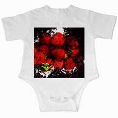 Strawberry Fruit Food Art Abstract Infant Creepers