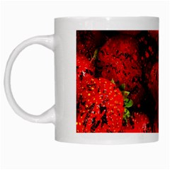 Strawberry Fruit Food Art Abstract White Mugs