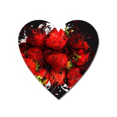 Strawberry Fruit Food Art Abstract Heart Magnet