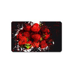 Strawberry Fruit Food Art Abstract Magnet (name Card)