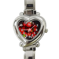Strawberry Fruit Food Art Abstract Heart Italian Charm Watch