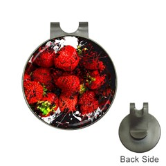 Strawberry Fruit Food Art Abstract Hat Clips With Golf Markers
