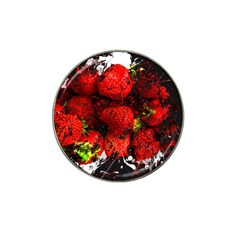 Strawberry Fruit Food Art Abstract Hat Clip Ball Marker (10 Pack)