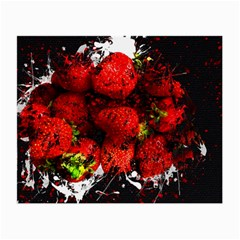 Strawberry Fruit Food Art Abstract Small Glasses Cloth