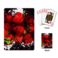 Strawberry Fruit Food Art Abstract Playing Card