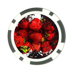 Strawberry Fruit Food Art Abstract Poker Chip Card Guard