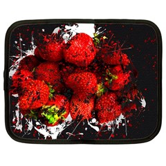 Strawberry Fruit Food Art Abstract Netbook Case (large)