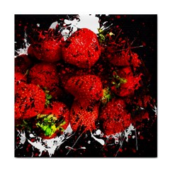 Strawberry Fruit Food Art Abstract Face Towel