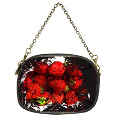 Strawberry Fruit Food Art Abstract Chain Purses (one Side)