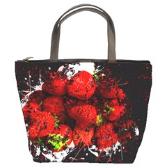 Strawberry Fruit Food Art Abstract Bucket Bags