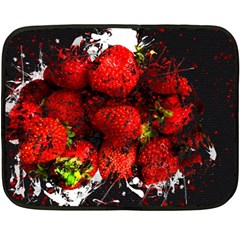Strawberry Fruit Food Art Abstract Double Sided Fleece Blanket (mini)  by Nexatart