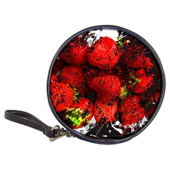 Strawberry Fruit Food Art Abstract Classic 20 Cd Wallets