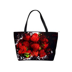 Strawberry Fruit Food Art Abstract Shoulder Handbags