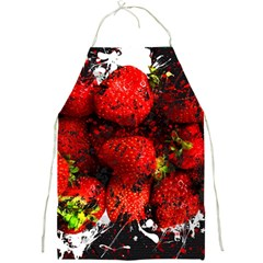 Strawberry Fruit Food Art Abstract Full Print Aprons