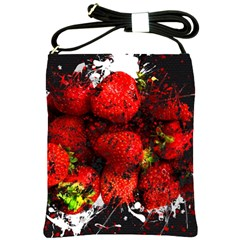 Strawberry Fruit Food Art Abstract Shoulder Sling Bags