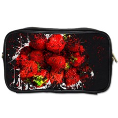 Strawberry Fruit Food Art Abstract Toiletries Bags