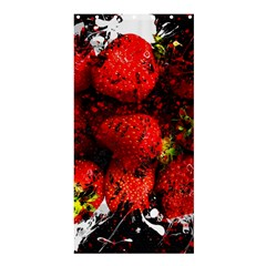 Strawberry Fruit Food Art Abstract Shower Curtain 36  X 72  (stall)