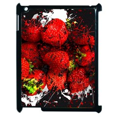 Strawberry Fruit Food Art Abstract Apple Ipad 2 Case (black)