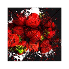 Strawberry Fruit Food Art Abstract Acrylic Tangram Puzzle (6  X 6 ) by Nexatart