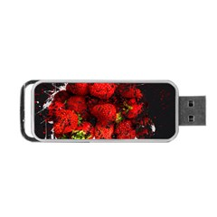 Strawberry Fruit Food Art Abstract Portable Usb Flash (two Sides)