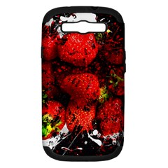 Strawberry Fruit Food Art Abstract Samsung Galaxy S Iii Hardshell Case (pc+silicone)