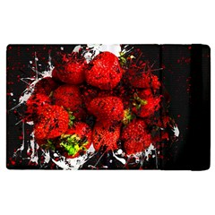Strawberry Fruit Food Art Abstract Apple Ipad 2 Flip Case