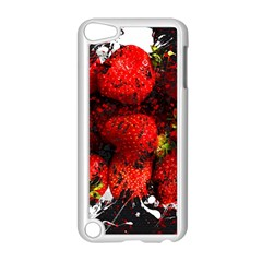 Strawberry Fruit Food Art Abstract Apple Ipod Touch 5 Case (white)