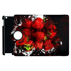 Strawberry Fruit Food Art Abstract Apple Ipad 2 Flip 360 Case