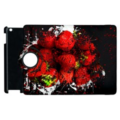Strawberry Fruit Food Art Abstract Apple Ipad 3/4 Flip 360 Case by Nexatart