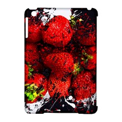 Strawberry Fruit Food Art Abstract Apple Ipad Mini Hardshell Case (compatible With Smart Cover)