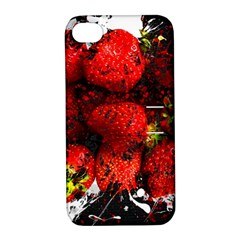 Strawberry Fruit Food Art Abstract Apple Iphone 4/4s Hardshell Case With Stand