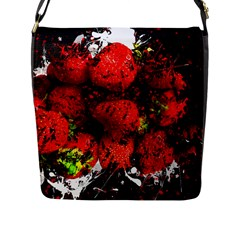 Strawberry Fruit Food Art Abstract Flap Messenger Bag (l)