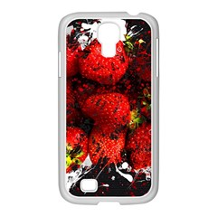 Strawberry Fruit Food Art Abstract Samsung Galaxy S4 I9500/ I9505 Case (white)