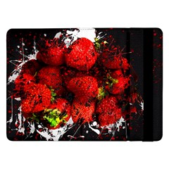 Strawberry Fruit Food Art Abstract Samsung Galaxy Tab Pro 12 2  Flip Case by Nexatart