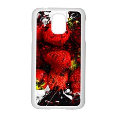 Strawberry Fruit Food Art Abstract Samsung Galaxy S5 Case (white)
